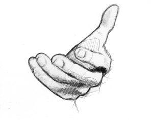 a beckoning hand